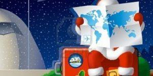 holiday travel santa